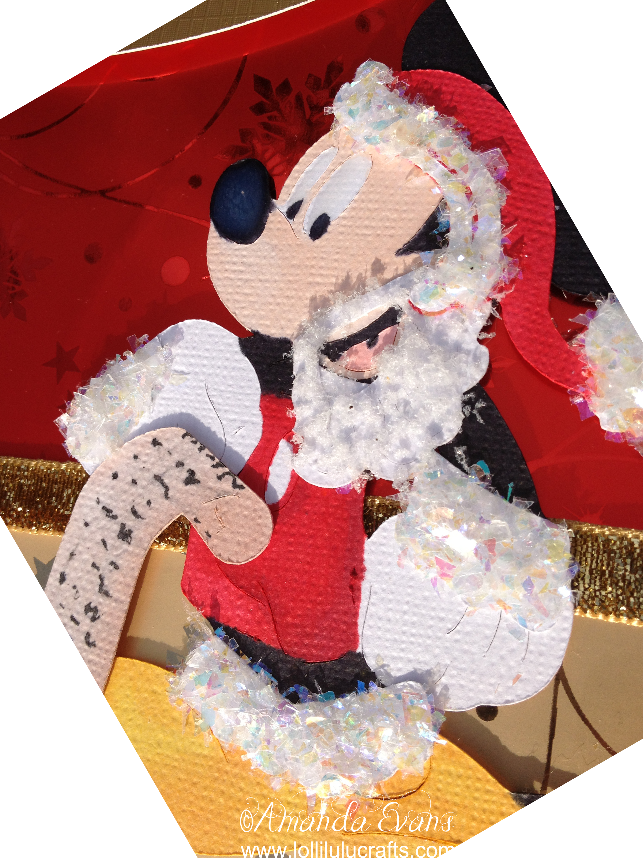 # TBT November Cricut Disney Santa Mickey Card