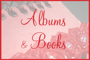 tile - albums books red