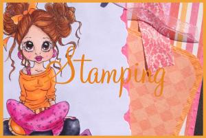 tile - stamping orange