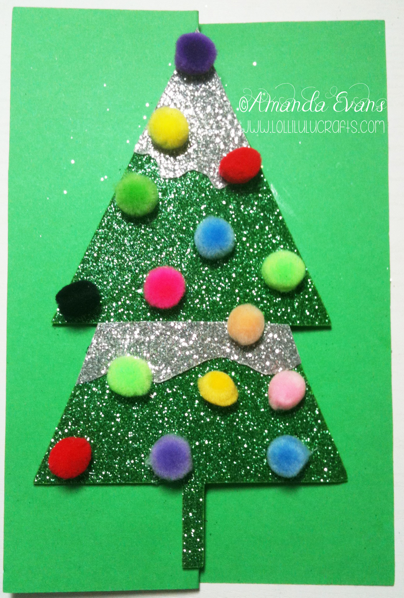 Christmas Tree Z card wm