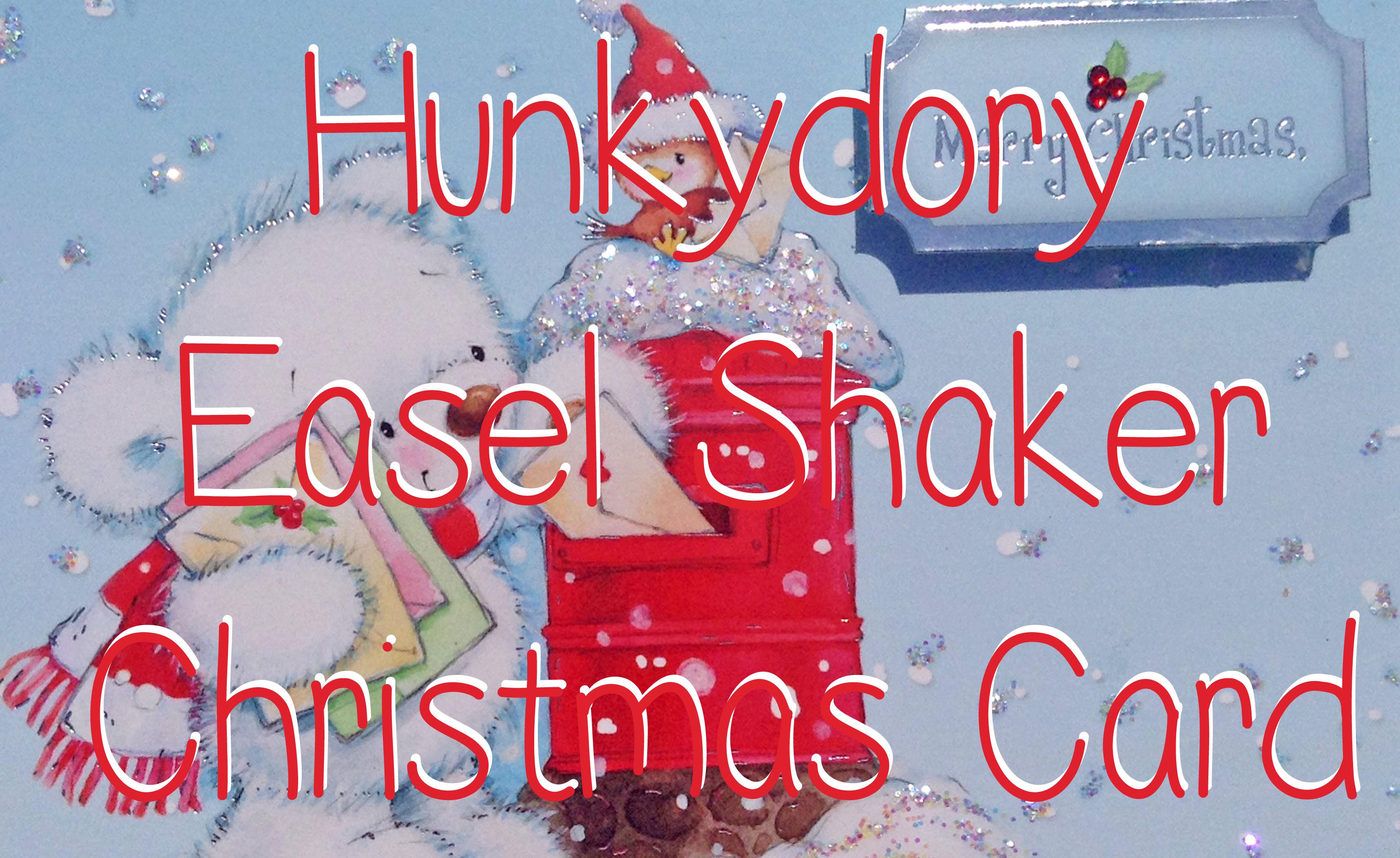 Hunkydory snowbear easel shaker