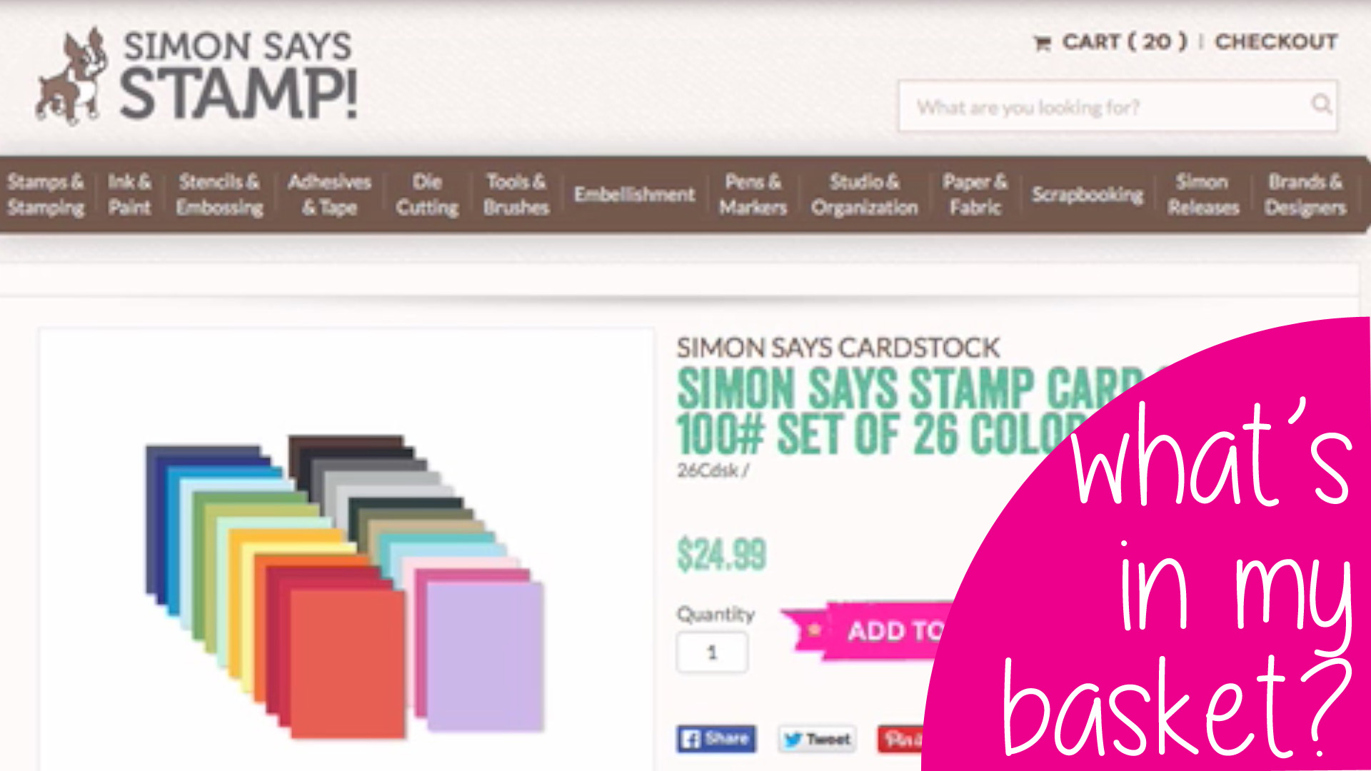 What's In My Basket? Simon Says Stamp