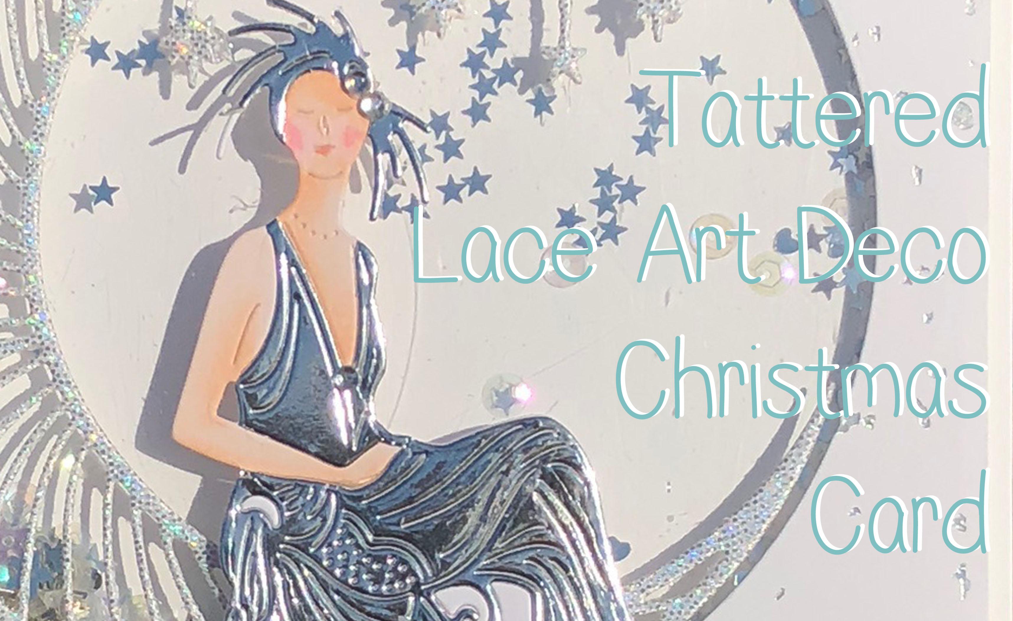 Tattered Lace Art Deco Christmas Shaker Card Lolli Lulu Crafts